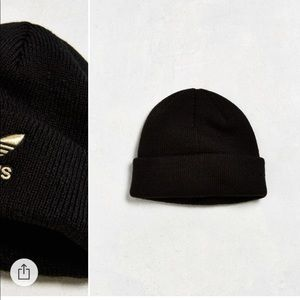 96912205fb162 adidas Accessories - ADIDAS gold and black tre foil knit beanie